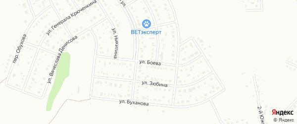 Улица Боева на карте Белгорода с номерами домов