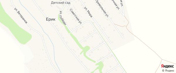 Советский 2-й переулок на карте села Ерика с номерами домов