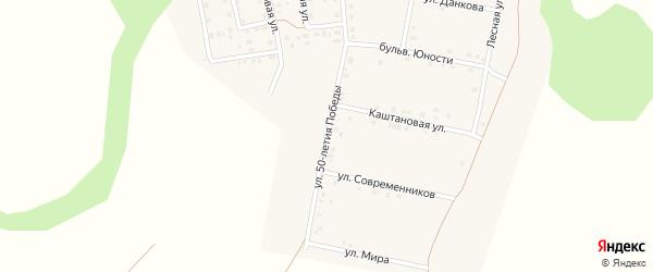 Улица 50 лет Победы на карте поселка Ясные Зори с номерами домов