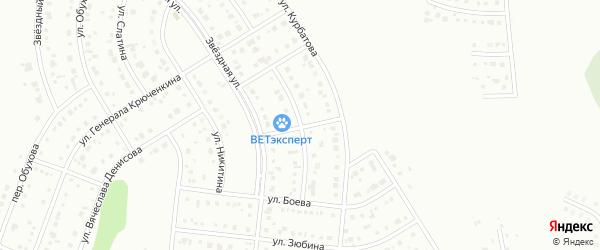 Переулок Боева на карте Белгорода с номерами домов