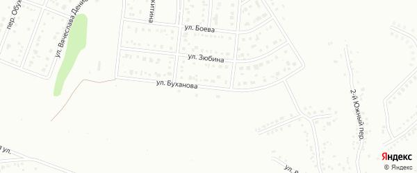 Улица Буханова на карте Белгорода с номерами домов