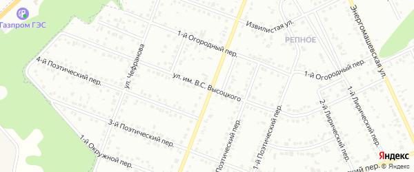 Улица им Высоцкого В.С. на карте Белгорода с номерами домов