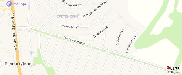 Троицкая улица на карте Строителя с номерами домов