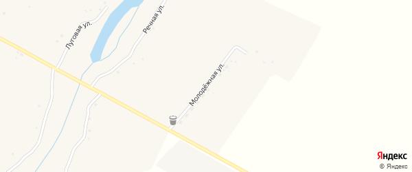 Молодежная улица на карте села Малые Маячки с номерами домов