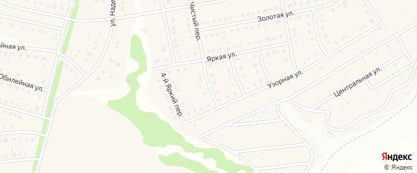 Яркий 3-й переулок на карте Стрелецкого села с номерами домов