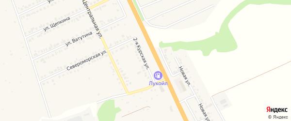 Курская 2-я улица на карте Строителя с номерами домов