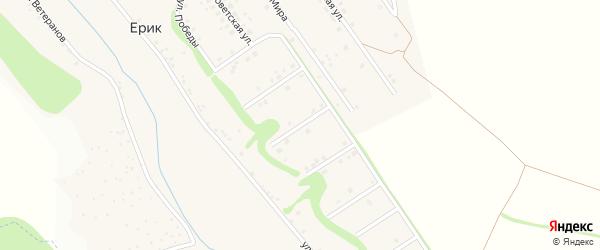 Советский 3-й переулок на карте села Ерика с номерами домов