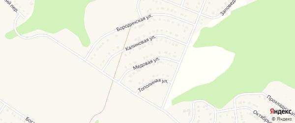 Медовая улица на карте Стрелецкого села с номерами домов