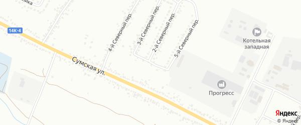 Полянский 1-й переулок на карте Белгорода с номерами домов