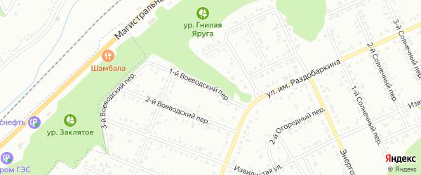 Воеводский 1-й переулок на карте Белгорода с номерами домов