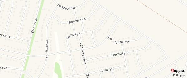 Чистый 2-й переулок на карте Стрелецкого села с номерами домов