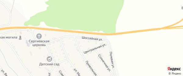 Шоссейная улица на карте села Ерика с номерами домов