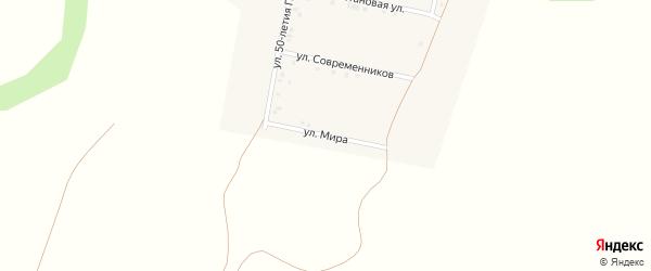 Улица Мира на карте поселка Ясные Зори с номерами домов