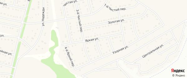 Яркая улица на карте Стрелецкого села с номерами домов