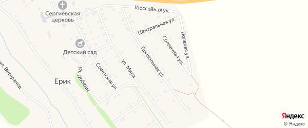 Привольная улица на карте села Ерика с номерами домов