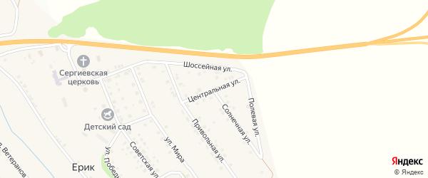 Центральная улица на карте села Ерика с номерами домов