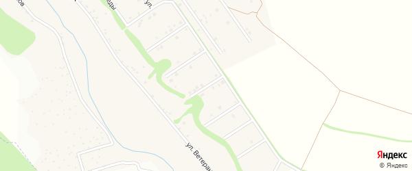 Советский 4-й переулок на карте села Ерика с номерами домов