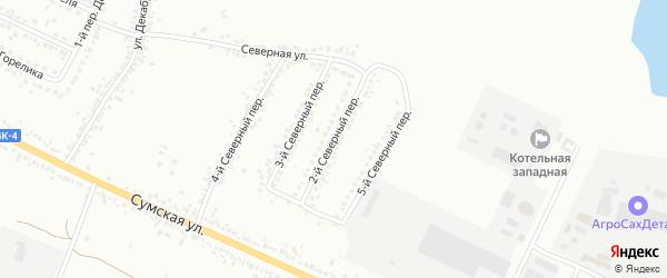 Северный 2-й переулок на карте Белгорода с номерами домов