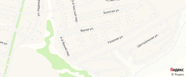 Яркий 2-й переулок на карте Стрелецкого села с номерами домов