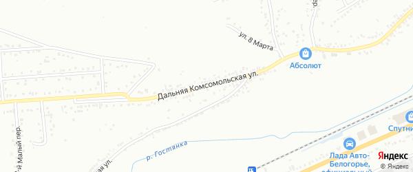 Дальняя Комсомольская улица на карте Белгорода с номерами домов