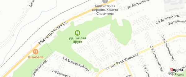 Земский 1-й переулок на карте Белгорода с номерами домов