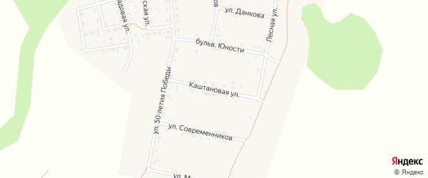 Каштановая улица на карте поселка Ясные Зори с номерами домов