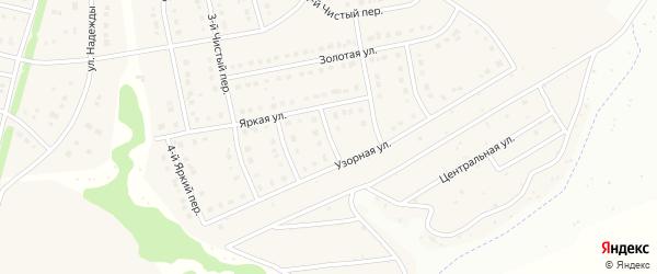 Яркий 1-й переулок на карте Стрелецкого села с номерами домов