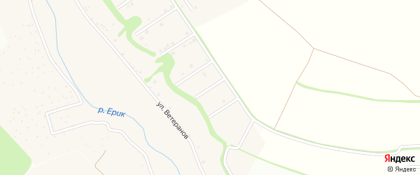 Советский 6-й переулок на карте села Ерика с номерами домов