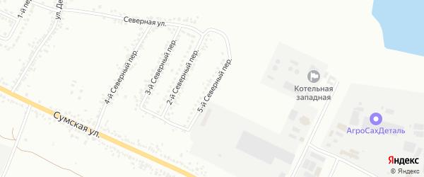 Северный 5-й переулок на карте Белгорода с номерами домов