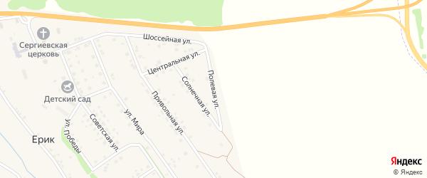 Полевая улица на карте села Ерика с номерами домов