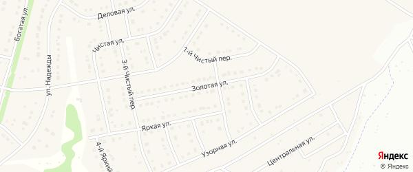 Золотая улица на карте Стрелецкого села с номерами домов