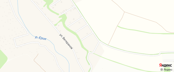 Советский 7-й переулок на карте села Ерика с номерами домов