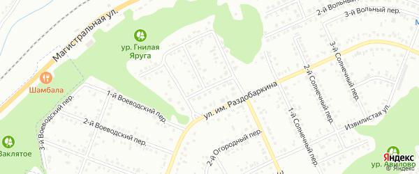 Земский 2-й переулок на карте Белгорода с номерами домов