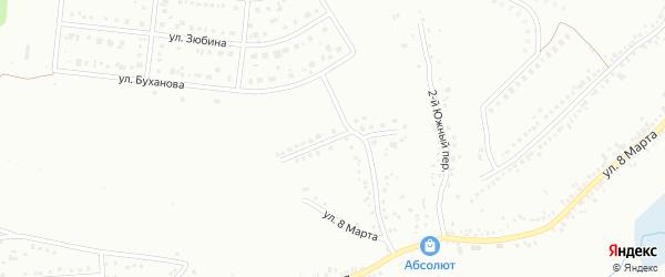 Южный 3-й переулок на карте Белгорода с номерами домов