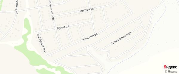 Узорная улица на карте Стрелецкого села с номерами домов