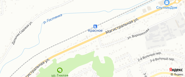 Магистральная улица на карте Белгорода с номерами домов