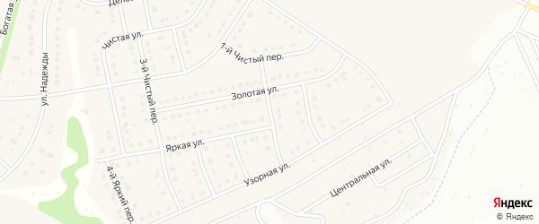 Узорный 3-й переулок на карте Стрелецкого села с номерами домов