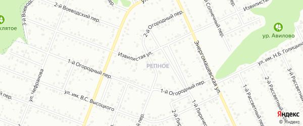 Огородный 2-й переулок на карте Белгорода с номерами домов