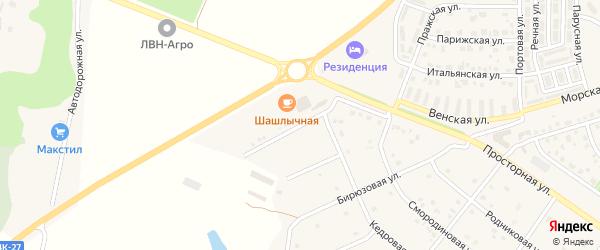 Угловая улица на карте села Шагаровки с номерами домов