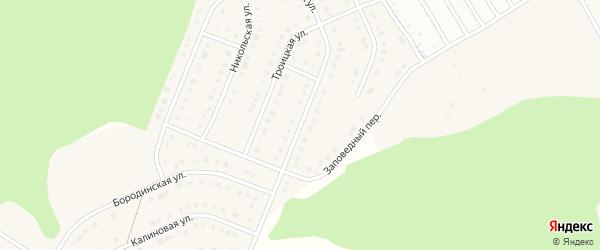 Заповедная улица на карте Стрелецкого села с номерами домов