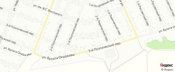 Лирический 3-й переулок на карте Белгорода с номерами домов