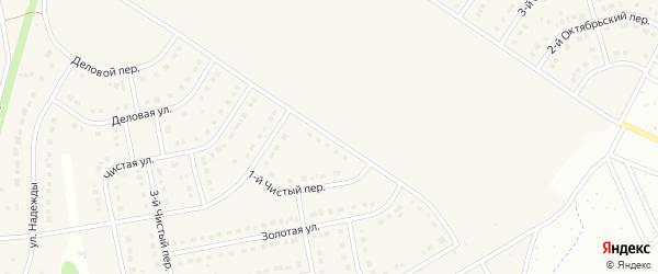 Чистый 1-й переулок на карте Стрелецкого села с номерами домов