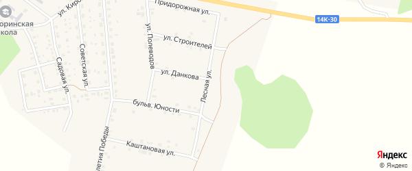 Лесная улица на карте поселка Ясные Зори с номерами домов