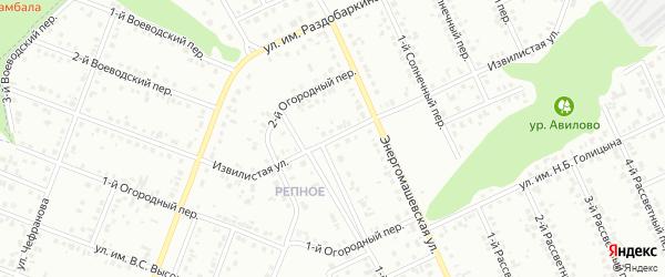 Извилистая улица на карте Белгорода с номерами домов