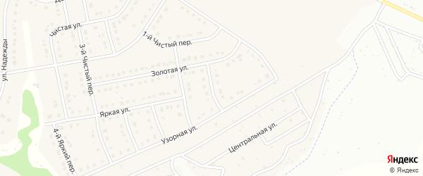 Узорный 2-й переулок на карте Стрелецкого села с номерами домов