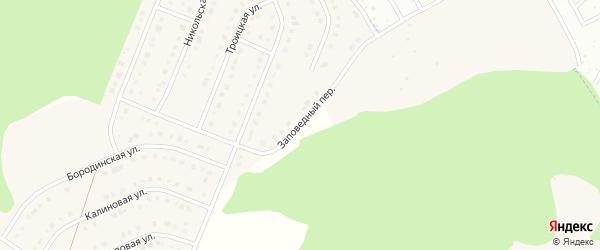 Заповедный переулок на карте Стрелецкого села с номерами домов