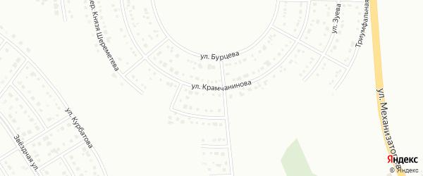 Улица Крамчанинова на карте Белгорода с номерами домов