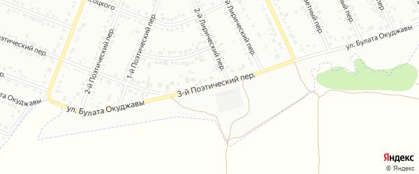 Улица им Окуджавы Б.Ш. на карте Белгорода с номерами домов