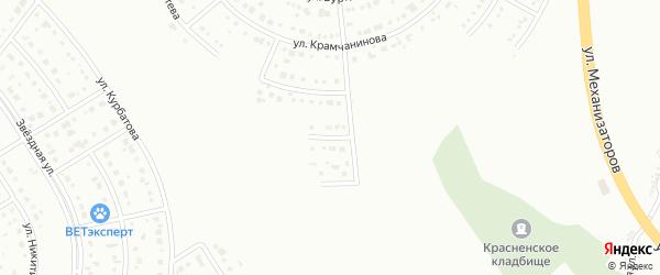 Ромашковый 2-й тупик на карте Белгорода с номерами домов