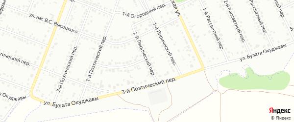 Лирический 2-й переулок на карте Белгорода с номерами домов